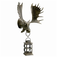 Moose Wall Mounted Lantern Lawn and Garden Decorations