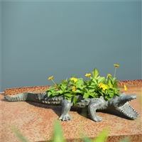 Alligator Planter Holder Lawn and Garden Decorations