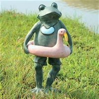 Beach Buddy Frog Lawn and Garden Decorations