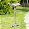 Antiqued Flower Birdfeeder on Stand Lawn and Yard Decorations