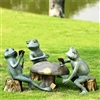 Card Cheat Frogs Garden Sculpture Set Lawn And Yard Decorations