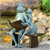 Reading Frog Family Garden Sculpture Lawn and Yard Decorations