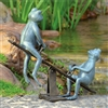 Playground Days Frogs Garden Sculpture Lawn and Yard Decorations