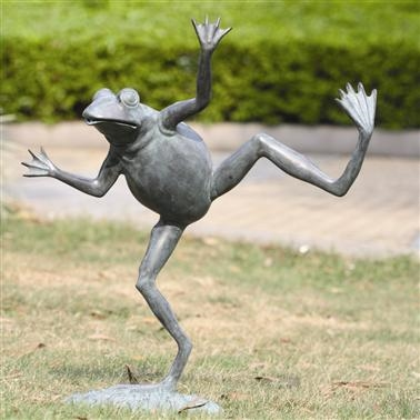 Dancing Frog Spitter Lawn and Yard Decorations