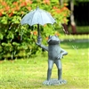 Frog With Umbrella Garden Spitter Lawn and Yard Decorations