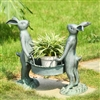 Bunny Gardeners Pot Holder Lawn and Yard Decorations