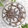 Celestial Splendor Sun and Moon Wall Plaque Lawn and Yard Decorations