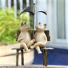 Contentment Garden Sculpture (two pigs with umbrella) Lawn Decorations