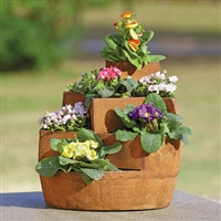 "Rustic Stairwell Planter for 3""D Pots Lawn and Garden Decorations"