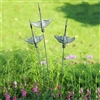 Crane Trio Garden Décor on Flexible Stake Lawn and Garden Decorations