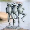 Dancing Frog Trio Lawn and Garden Decorations