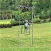 Daredevil Frog on Swing Garden Statue Lawn and Garden Decorations
