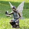 Grace Garden Sculpture - Fairy and Butterfly Sculpture Lawn and Garden Decorations