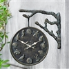 Undersea Life Garden Clock and Thermometer