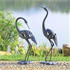 Crane Pair LED Garden Sculpture Lawn Decorations