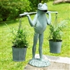 Farmer Frog Planter Holder Lawn Decorations