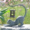 Stretching Cat LED Garden Lantern Home Decorations