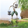 Stylized Crane Pair LED Garden Lantern Home Decorations