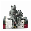 Parent and Kid Reading Frog Shelf Sitter Home Decorations