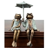 Sophisticated Frog Couple Shelf Sitters Home Decorations