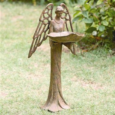 Angel Bird Feeder Lawn Decorations