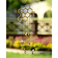 Bees & Honeycomb Wind Chime