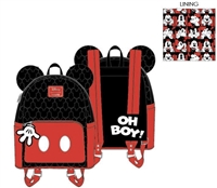 Mickey Mouse quilted oh boy mini backpack