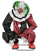 Animated Crouching Clown Halloween Prop Red