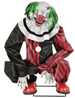 Animated Crouching Clown Halloween Prop Trick Or Treat 2019