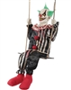 Animated Swinging Chuckles the Clown Halloween Prop Trick Or Treat 2019
