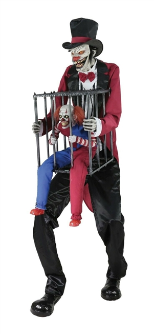 Animated Psycho Circus Cagey the Clown Halloween Prop 2019