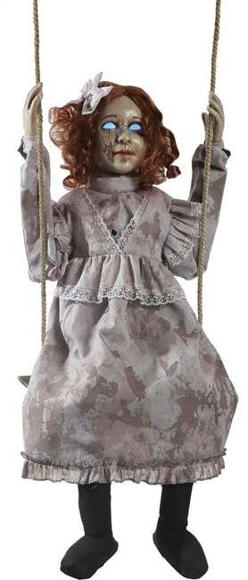Animated Swinging Decrepit Doll Halloween Prop Trick Or Treat 2019