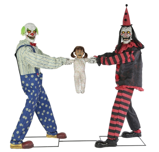 Animated Tug Of War Clown Halloween Prop Trick Or Treat 2019