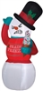 Airblown Shivering Snowman Christmas Lawn Decoration Buy It Now