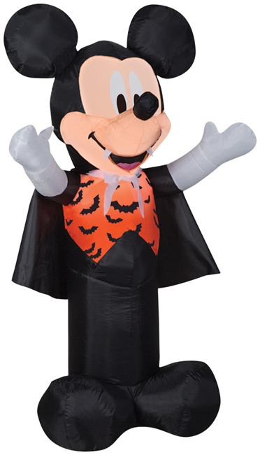Airblown Mickey As Vampire   Christmas Lawn Decoration
