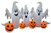 Ghosts With Pumpkins 8' Wide Inflatable Halloween Lawn Decoration