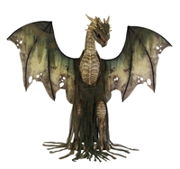 Animated Winter Forest Dragon Halloween Prop