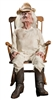 Grandpa Lifelike Crotchety Rocking Animated Halloween Prop Creepy Doll