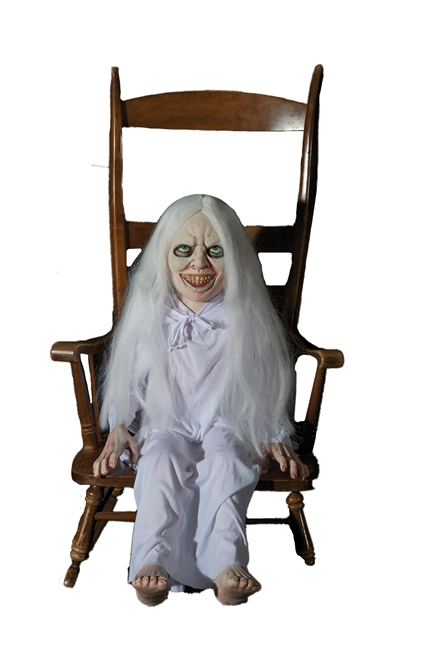 Buy your Ghost Girl Latex Animated, Scary Halloween Prop at Boodee.net, These eerie scary creepy Halloween animated props will surely bring your house to life or death. Be sure to shop all our props and enjoy free shipping. You will die for our props.