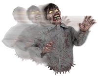 Bump and Go Zombie  Animated  Halloween Decoration