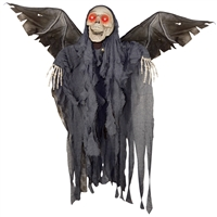 "48"" Animated Winged Reaper Prop Scary Halloween at Boodee.net"