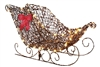 Christmas Sleigh Starry Grapevine Decorations
