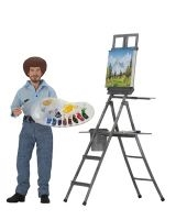 "Bob Ross – 8"" Clothed Action Figure – Bob Ross  Collectible"