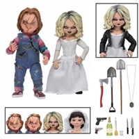 Childs Play Ultimate Chucky and Tiffany 7-Inch Scale Action Figure 2-Pack