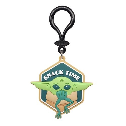 Star Wars: The Mandalorian The Child Snack Time Soft Touch PVC Bag Clip