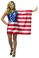 Rasta Imposta Flag Dress USA Halloween Costume Trick or Treat