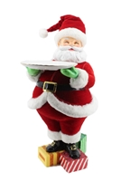 December Diamonds Santa w/Serving Plate  Holiday Decoration at boodee.net