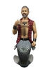 Sir Leather Large Display Figurine Sculpture not an ornament but a display piece measures 20 inches tall