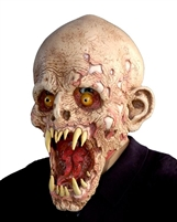 Schell Shocked Monster Zombie Lifelike Halloween Mask
