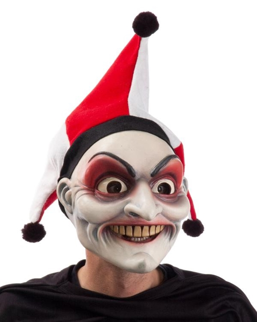 Jester Bob-O Mask Lifelike Halloween Mask